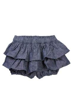 Tea Collection Citizen Chambray Ruffled Bloomers (Baby & Toddler Girls)