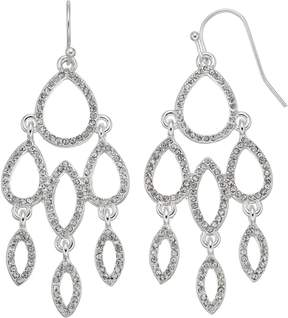 Chaps Pave Geometric Nickel Free Chandelier Earrings