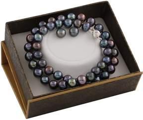 Bella Pearl Black Freshwater Pearl Boxed Jewelry Set SET-J