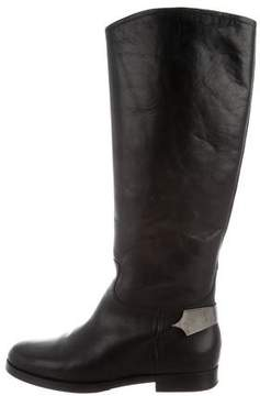 Emporio Armani Leather Knee-High Boots