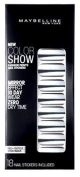 Maybelline Color Show Prints Mirror Effect Nail Stickers, Platinum Standard.