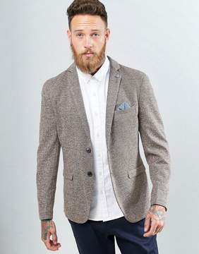 Selected Slim Blazer in Fleck with Stretch