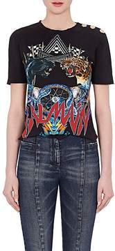Balmain Women's Graphic Cotton Jersey T-Shirt
