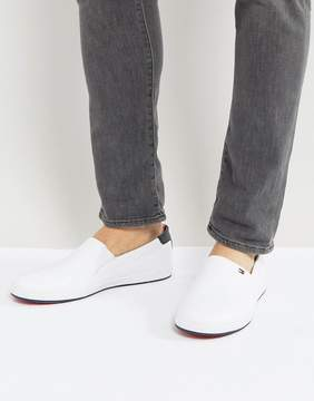 Tommy Hilfiger Howell Slip On Sneakers Leather in White