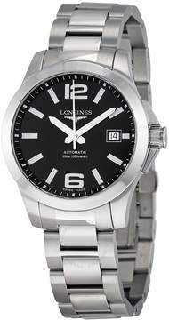 Longines Conquest Black Dial Stainless Steel Men's Watch