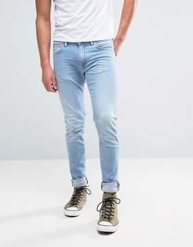 Edwin ED-85 Slim Tapered Drop Crotch Jeans Light Trip Used Wash