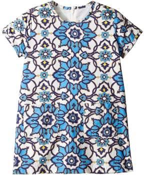 Toobydoo Blue Floral Shift Dress (Toddler/Little Kids/Big Kids)