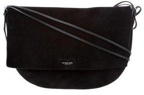 Michael Kors Suede Crossbody Bag - BLACK - STYLE