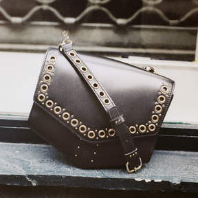 Sandro Lou Bag with eyelets, medium model