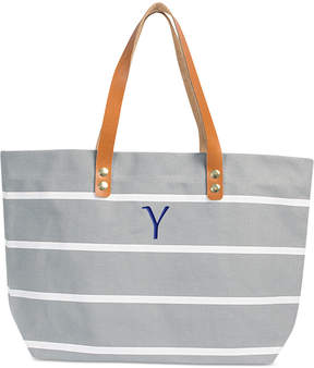 Cathy's Concepts Personalized Gray Striped Tote
