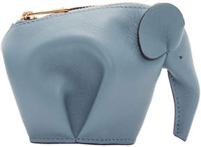 Loewe Blue Elephant Coin Pouch