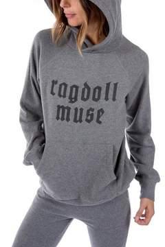 Ragdoll LA OVERSIZED MUSE HOODIE Dark Grey Melange