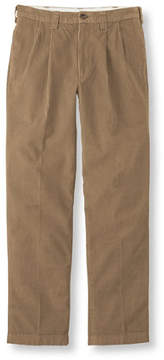 L.L. Bean Country Corduroy Pants, Classic Fit Pleated