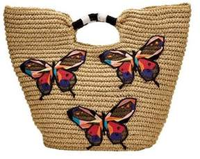 San Diego Hat Company Women's Paper Tote With Butterfly Embroidery Bsb1728.