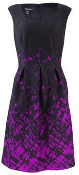 Nine West Women's Ink Splatter Printed Ponte Dress