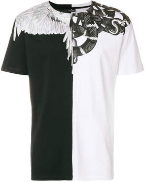 Marcelo Burlon County of Milan snake and feather T-shirt