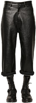 Cheap Monday 15.5cm Cropped Baggy Faux Leather Pants