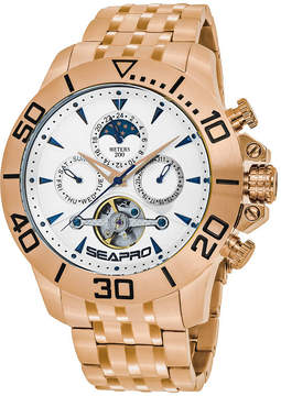 Seapro Sea-Pro Montecillo Mens Rose Goldtone Bracelet Watch-Sp5135