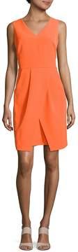 Donna Morgan Women's Solid V-Neck Dress
