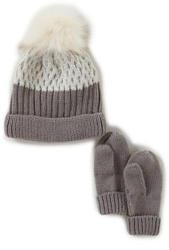 Starting Out Baby Boys Colorblock Beanie Hat & Mittens Set