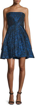 Theia Strapless Fit-&-Flare Dress, Sapphire