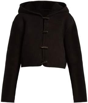 Raey Cropped shearling hooded jacket
