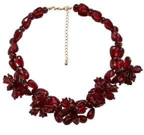 Violeta BY MANGO Flower beads necklace