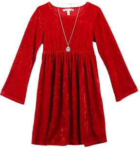 Speechless Girls 7-16 & Plus Size Velvet Dress with Necklace