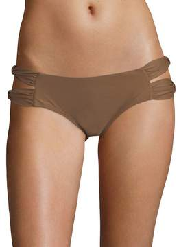 6 Shore Road Women's Ruched Bikini Bottom