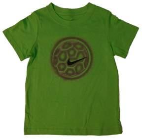 Nike Swoosh Boys Green Soccer Ball Tee T-Shirt Size 6