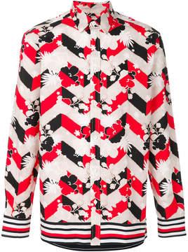 MAISON KITSUNÉ blossom print shirt