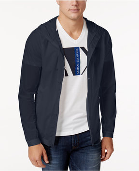 Armani Exchange Men's Button-Up Nylon Stretch Jacket