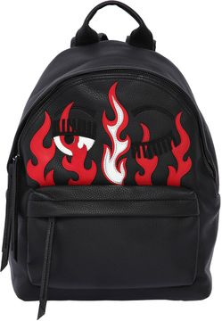 Flirting Flames Faux Leather Backpack
