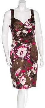 David Meister Sleeveless Printed Dress