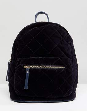 Pieces Quilted Velvet Backpack