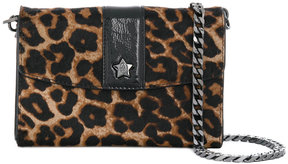 Ash leopard print shoulder bag