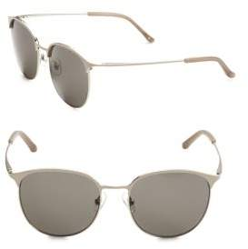 Linda Farrow Luxe 53MM Clubmaster Sunglasses