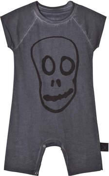 Nununu Dyed Graphite Skull Mask Sleeveless Playsuit