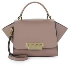 Zac Posen Eartha Structured Leather Top-Handle Bag