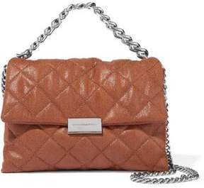 Stella McCartney Becks Mini Quilted Faux Brushed-Leather Shoulder Bag