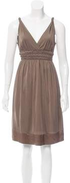 Strenesse Silk-Trimmed Knee-Length Dress
