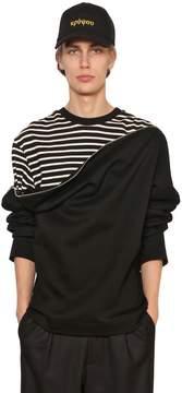 Juun.J Zip Open Layered Jersey Sweatshirt