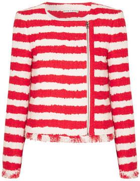 Alice + Olivia Alice Olivia - Stanton Striped Tweed Jacket - Red