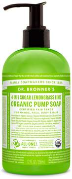 Dr. Bronner's Sugar Lemongrass Lime Organic Pump Soap by 12oz Liquid Soap)