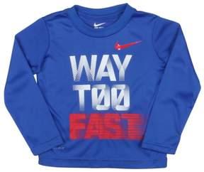 Nike Toddler Boys' (2T-4T) Dri-Fit LS Way Too Fast T-Shirt-Blue-4T