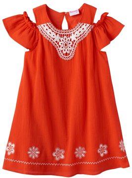 Nannette Toddler Girl Embroidered Off-the-Shoulder Gauze Dress