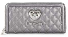 Love Moschino Quilted Faux Leather Continental Wallet
