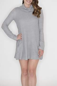 Cherish Button Cowl Dress
