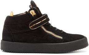 Giuseppe Zanotti Black Suede May London High-Top Sneakers