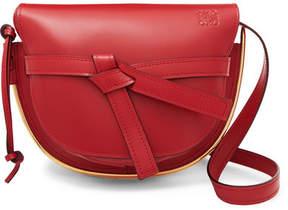 Loewe Gate Small Embellished Leather Shoulder Bag - Claret